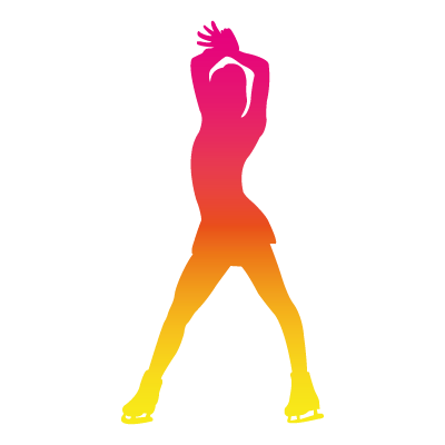 CPA Abénakis - patinage artistique - silhouette rose