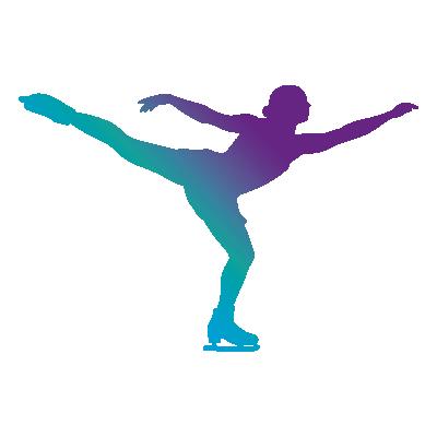 CPA Abénakis - patinage artistique - silhouette mauve