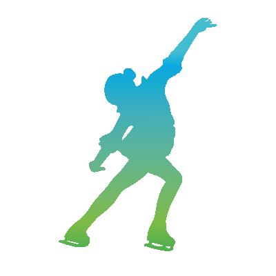 CPA Abénakis - patinage artistique - silhouette bleue