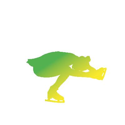 CPA Abénakis - patinage artistique - silhouette verte